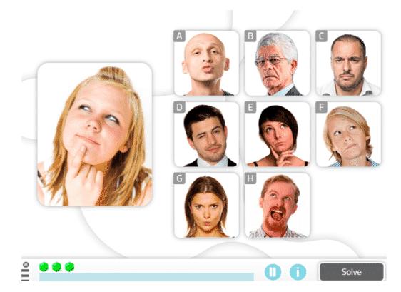 Find the same emotion, Social Cognition Activity