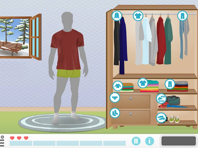 get dressed activity of daily living