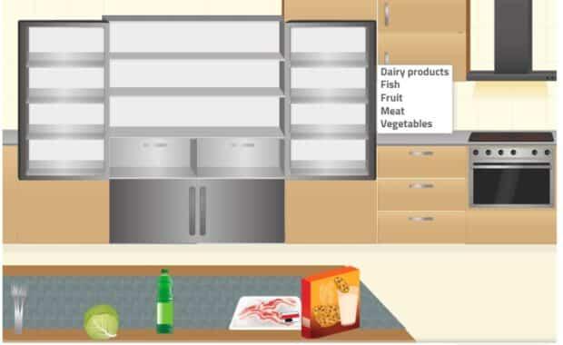 Straighten up the kitchen ADLs