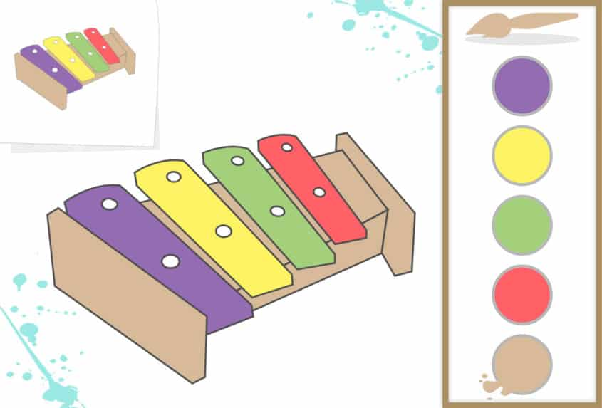 printable activities for children with intellectual disabilities painting and coloring