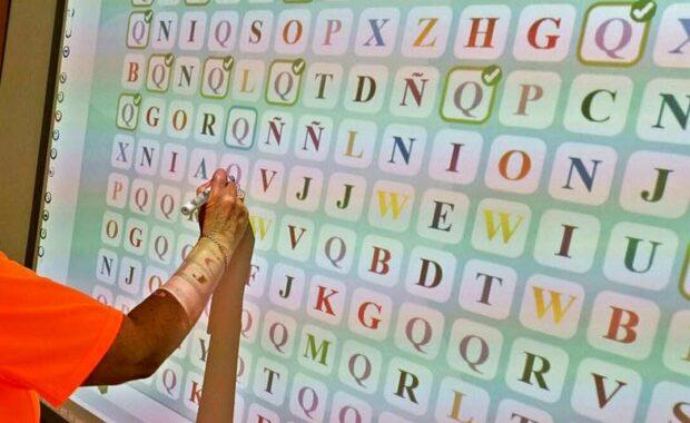 hidden letters down activity