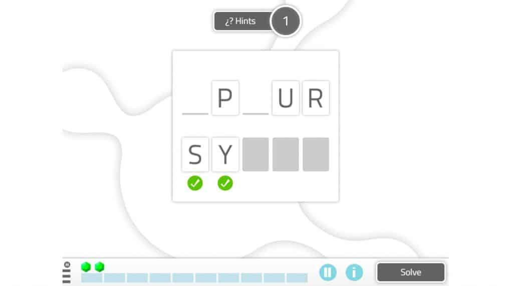 word scramble neuronup digital and printable activity