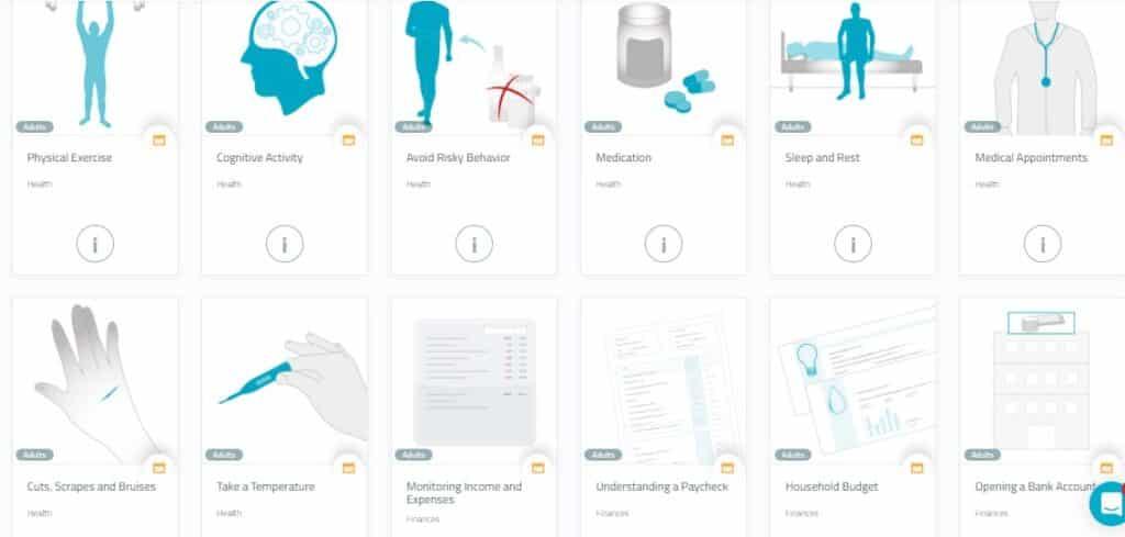 Printable  NeuronUP rehabilitation guides for professionals